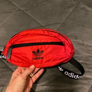 Adidas fanny pack red waist bag